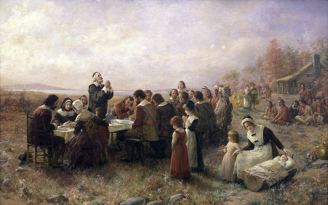 a painting of thanksgiving made in 1914