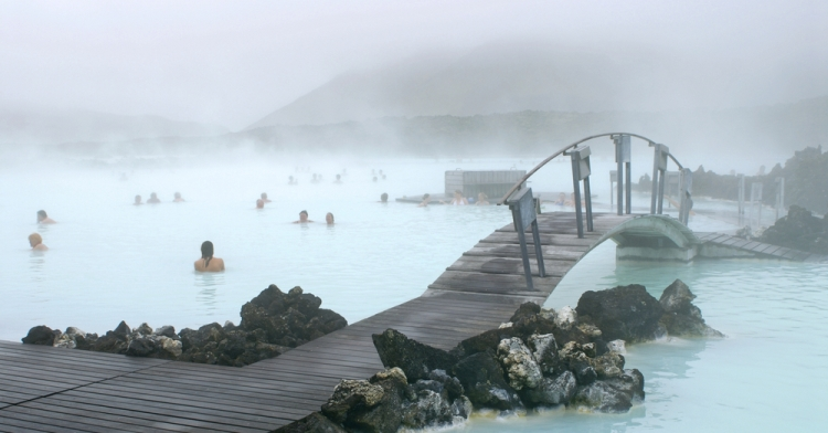 Iceland geothermal hot springs